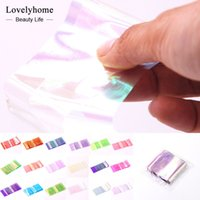 Wholesale Nail Foils Light - Wholsale! 18 Packs Nail Art Sticker Broken Glass Piece 3D Mirror Effect Foil Candy Tips Stencil Decal Decoration Manicure Tools