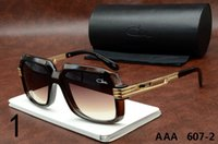 Wholesale Cheap Black Eyeglass Frames - Cazals Eyewear 607B Sunglasses Brown Cazals Eyeglasses Shade Oculos Lunette Metal Frame Cheap Sun glasses