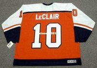 Wholesale Retro Philadelphia - Cheap custom retro JOHN LeCLAIR Philadelphia Flyers 1997 CCM Jerseys Throwback Away Jerseys Throwback Mens stitched Hockey Jersey