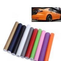 Wholesale Dark Red Vinyl - Universal 127*30CM 3D Carbon Fiber Film Vinyl Sticker Car Body Interior Decoration Grey Red Black Gold White 14 Colors Optional