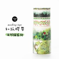 Großhandel- 2016 endlose grüne Landschaft dekorative Washi Tape DIY Scrapbooking Masking Tape School Office Supply