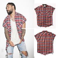 Wholesale Urban Brand Clothing - new street fashion harajuku men kpop hipster kanye west justin bieber FOG brand urban clothing metallica music mens zipper shirt