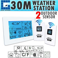 Wholesale AOK _2S Wireless Weather Station Indoor Outdoor Thermometer Temperature Humidity w RCC Radio Controlled Clock w Remote Sensor
