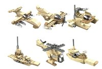 Wholesale Wood Toys Military - Hot-selling children's puzzle early education small particles assembled pieces of military military full range of fight plastic enlightenmen