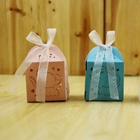 schoko-box dekorativ großhandel-Hochzeit Gunsten Pralinenschachtel Mini Lasergravur Geschenkbox Gastgeschenke Kreative Schokolade Boxen Dekorative Geschenk Fall 0 41rh J R