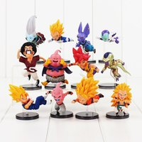 Wholesale Dragonball Z Goku Vegeta - 6pcs lot WCF Dragon Ball Z dragonball vegeta son goku piccolo PVC Figure Toy