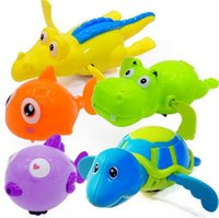 Wholesale turtle toy bath for sale - Group buy Hot Sale Wind Up Water Crocodile Shark Turtle Fish Hippo Toys In Children s Pool Water Bath Funny Toy Crocodile Wind Up Toys YH985