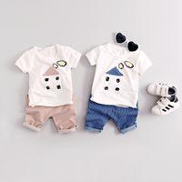 Wholesale Short Sleeve Sport Set Baby - Summer Kids Clothes Sets Short Sleeve Boy T-shirt Pants Suit Clothing Set Newborn Sport Suits Children Baby Boy Clothes