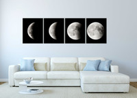 Wholesale Framed Space Art - Panels Abstract Space Black and White Pictures to Photo Canvas Painting Home Decor Canvas Wall Art Picture Digital Art Print for Room Wall