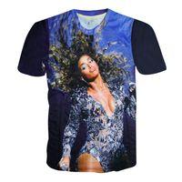 Wholesale Hiphop Girl Short - Wholesale- 2015 New fashion women men Beyonce print 3D t-shirt print short sleeve girl boy female sexy tshirt funny hiphop shirts