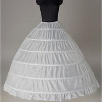 weiß plus größe petticoat großhandel-Ballkleid Großer Petticoats 2017 neue Ankunfts-Weiß 6-Reifen Bride Underskirt formales Kleid Krinoline Plus Size Hochzeit Zubehör