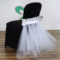 Wholesale Organza Draping Fabric - Beautiful Design Lycra Spandex Chair Band \ Chair Sash With Tutu Organza Drape Decoration Fit For Chair Cover