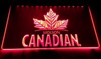 Wholesale molson beer - LS994-r molson canadian beer bar pub club 3d signs LED Neon Light Sign.jpg