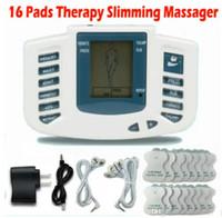 dizaines d'acupuncture achat en gros de-Stimulateur électrique Full Body Relax Massage musculaire Masseur Massage Pulse dizaines Acupuncture Soins de santé Machine 16 Pads