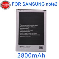 Wholesale N719 Note2 - Battery for samsung Note2 n7100 N719 N7102 N7108 mobile phone battery factory direct wholesale note2 authentic durable.