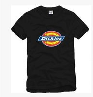 Wholesale Men Dickies - new arrival Dickies t shirt Men Short Sleeves kids T-Shirt 90--150 with Dickies Logo print t-shirts 100% cotton 6 colors size: S-XXXL