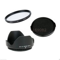Wholesale uv lens cover - Wholesale-3 in 1 52mm Lens Cap cover + Flower Lens Hood + Green.L UV Filter For 52mm Panas&nic Lumix DMC G1 G2 G10 FZ200 FZ62