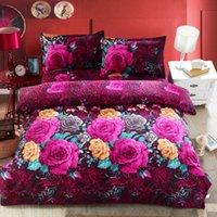 Wholesale Comforters King Size Wholesale - Wholesale-2016 Newest 4Pcs 3D Bedding sets Bedding-set Bed Set King Size Sheets Duvet Cover Quilt Pillow No Comforter