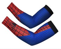 Cotton spider guard - High Quality Spider man Basketball Brace Support Lengthen Arm Sleeves Guard Sports Safety Protection Elbow Pads Arm Warmers