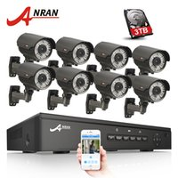 Wholesale ip night vision surveillance systems online - ANRAN CH V POE NVR CCTV System Onvif P2P P HD IR Night Vision Varifocal mm mm IP Camera POE Security Surveillance Kit TB HDD