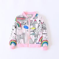 Wholesale Trench Coats For Girls Kids - Fashion Boutique Kids Outwear Girls Princess Coats Autumn Striped Children Trench Coats Fall kids jackets For 2-7Years Girl Pink A7418