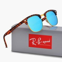 Wholesale Amber Designs - 2018 New Polarized Sunglasses for men women 3016 Classic Semi-Rimless Fashion design driving glasses polaroid lens with free brown box