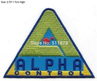 Wholesale Control Movies - Lost In Space TV Series Alpha Control Logo Patch TV Movie Series Uniform punk rockabilly applique iron on sew on badge
