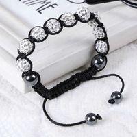 Wholesale Shambala Bracelets Macrame - Shambala Bracelets Macrame Multicolor Crystal Beads Bracelets Crystal Ball Bracelet Shambala Balls Beaded Bracelets Fashion Jewelry