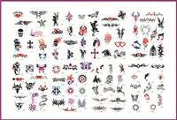 Wholesale Tattooing Books Free - Free Shipping Fashion Tattoo Stickers Booklets 2 PCS lot Self-adhesive Airbrush Tattoo Stencil Books for Temporary Body Tattoo