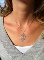 Wholesale Simple Short Necklace Pendant - XL012 European and American fashion jewelry simple and natural forest metal leaves short necklace alloy pendant necklace women