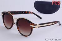 Wholesale Eyeglass Frames For Girls - Popular Fashion Unisex Retro Aluminum Sunglasses Men Polarized Lens Brand Designer Vintage Sun Glasses For Women UV400 eyeglass with box