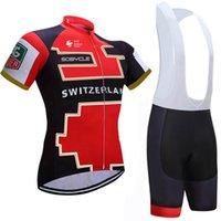 Wholesale Uci Cycling - 2017 UCI team cycling jersey bike shorts set switzerlands bicycle wear Quick Dry Bike Wear cycling shirts Short sleeve cycling clothing