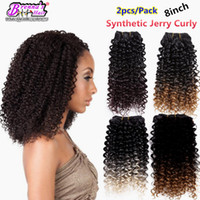 Wholesale Blonde Synthetic Weave - New Synthetic weaving blended synthetic hair short Cut Hair Extensions Short Curly Ombre 613 blonde Weave Weft Free Hair bundles weavy