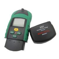 detector de metais freeshipping venda por atacado-Freeshipping Novo 3 em 1 Multi-função do Metal Do Parafuso AC Tensão Scanner Detector Tester Medidor de Espessura w / NCV teste