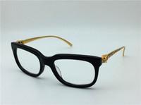 Wholesale Titanium Bling - new vintage eyeglass france designer T0184 glasses prescription steampunk style women brand deisnger bling leopard logo design eyeglasses