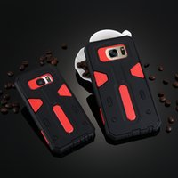 Wholesale Galaxy S4 Shock Resistant Cases - shock-resistant 2 in 1 double Coque For Samsung Galaxy s4 s5 s6 s6edge plus Fundas protection For Samsung s7edge Cases Cover Shell
