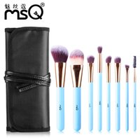 8 pz / set Pennelli trucco professionale maquiagem Foundation Brush Blusher Powder Ombretto Blending Sopracciglio Eyeliner Lip Brush per cosmetici