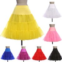 Wholesale Tutu Plus Sizes - Cheap 2017 Short Wedding Petticoats Organza Bridal Underskirt Slip Women A-Line Crinoline Skirt TUTU Plus Size Bridal Accessories