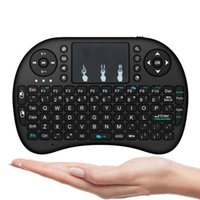 ingrosso mouse senza fili per pc-Tastiera wireless Tastiere Rii i8 Fly Air Mouse Telecomando multimediale Telecomando Touchpad per TV BOX Android Mini PC