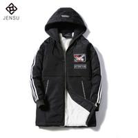 Wholesale Men Snow Coats - Plus Size S-4XL New Men's Slim Long 100% Cotton Thick Winter Snow Warm Jacket Warm Coat Parkas 3 Colors Fashion Men Outwears