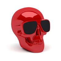 ingrosso altoparlanti mini mega-Altoparlanti portatili Bluetooth Skull Head Stereo senza fili Subwoofer Mega Bass 3D Stereo Altoparlante a mano libera Mini altoparlante DHL gratuito
