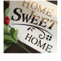 Wholesale Scrapbooking Cards - Painting white stencils Masking template For Scrapbooking,cardmaking,painting,DIY cards-The words of sweet home 266
