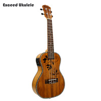 """Wholesale High Reputation - Wholesale-23"""" Concert Ukulele Acoustic Guitar KOA Guitarra high reputation Ukelele hawaii mini handcraft uke musical instruments with EQ"""