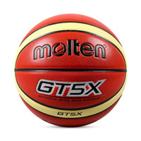 Wholesale Net Needle - Molten Children Basketball Ball GT5X PU Leather Outdoor Indoor Size 5 Games Basketball Ball Training Equipment With Net+Needle