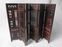 Wholesale Carved Wood Hands - Hand carved Chinese collection of hongshan chicken wings wood folding screen