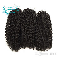 Wholesale Short Curly Hair Piece - 9pc  set Ombre Braiding Hair Extensions Crochet Braids for Kids or Adult 10 Inch Synthetic Short Blonde Ombre Malibob Crochet Braid Twist