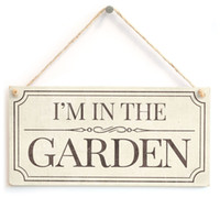 Meijiafei I AM IN THE GARDEN - Cartello a muro per la casa Ottima idea regalo piccola per avid Gardeners 10