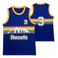 Wholesale Rainbow Men - Throwback AV #3 Basketball Jersey Mesh #3 Jerseys 2017 Rainbow AV #3 High School Iverson 3 Jersey free shipping