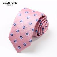 Wholesale Mens Necktie Pattern - Wholesale- AI Vatican home spring new silk necktie Mens business suits 7cm pink silk necktie pattern pieces