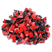 Wholesale Cord Cable Clip Ties - 100pcs Adhesive Cable Clips Wire ClipsCable Wire Management Drop Cable Clamp Wire Cord Tie Holder for Car, Office and Home
